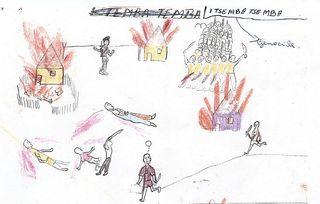 Child's drawing of Rwandan genocide