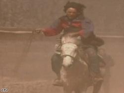 Tibetanprotestoronhorseback